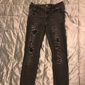 American Eagle 🦅  Black Ripped Jeans